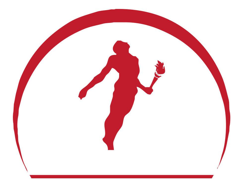 Logo rosso con omino Prometeus