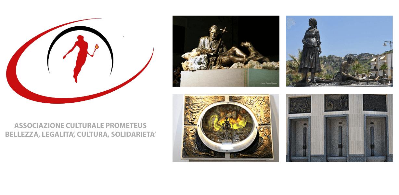 Logo Prometeus e quattro immagini di opere realizzate