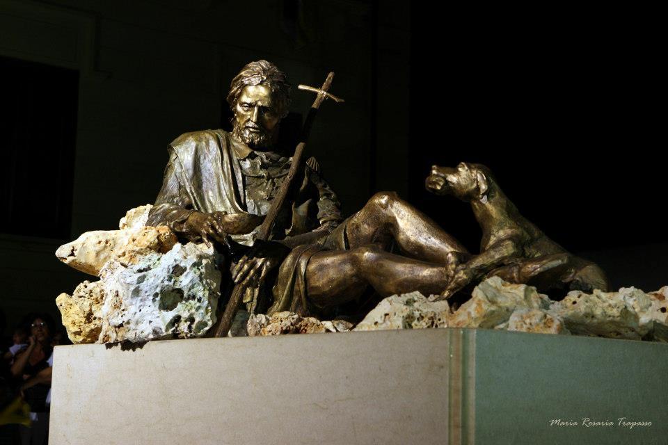 Statua di San Rocco - Opera bronzea