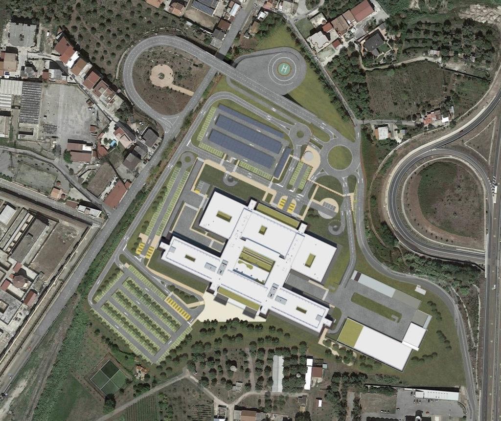 Nuovo Ospedale visto dall'alto